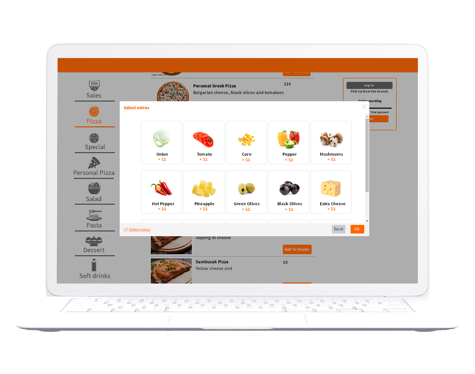 One of the products of Bite Technology Ordering website
