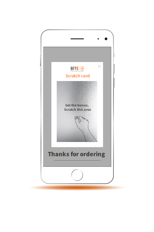 Increase sales scratch coupons on bite app